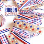 DIY Patriotic Ribbon Bunting
