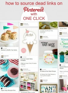 How to source pins with a bad link with one quick click via @snapconference #pinterest #pinteresttips #bloggingtips