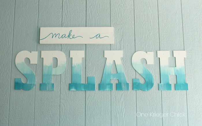 Splash Poolside Painted decor with a water color effect