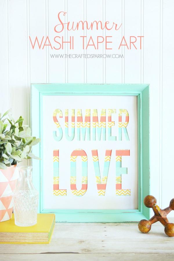Summer washi tape art