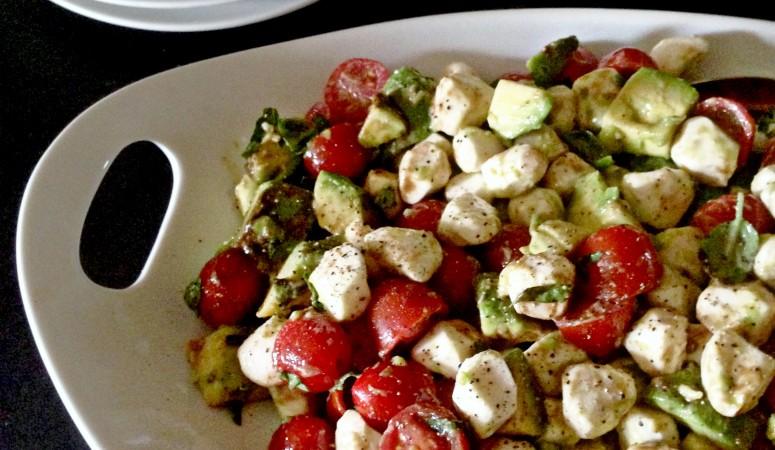 Martha Stewart Inspired Tomato Mozzarella Salad