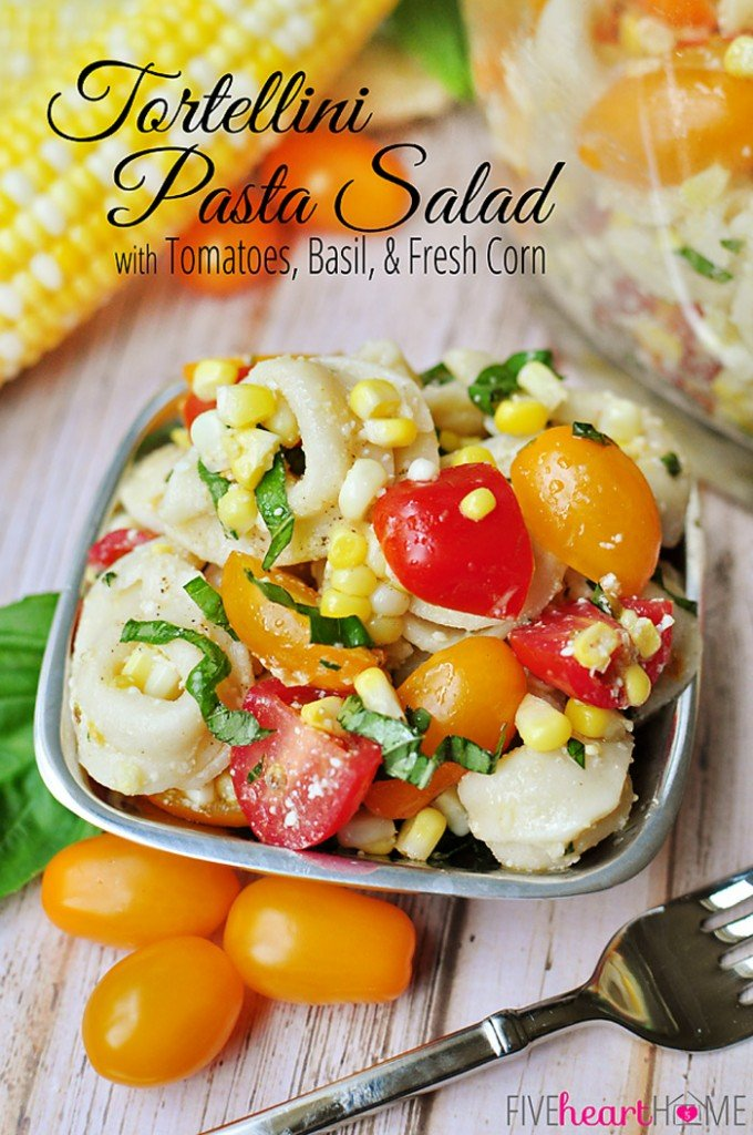Tortellini Pasta Salad via Five Heart Home