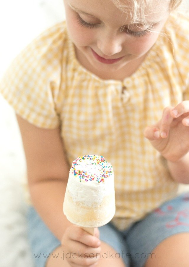 Birthday Cake Ice Cream Pops