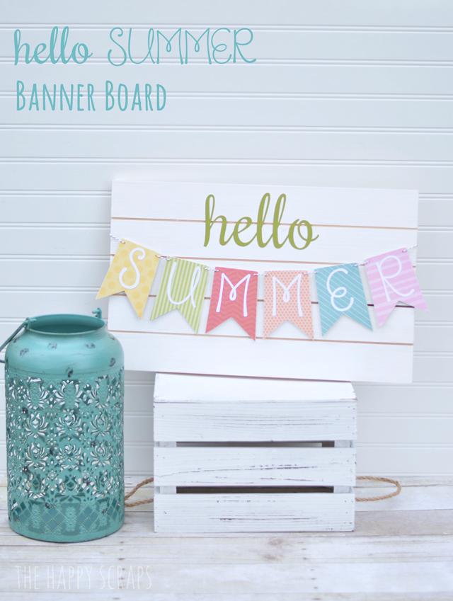 Welcome Summer via The Happy Scraps