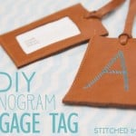DIY Monogram Luggage Tag for Father's Day