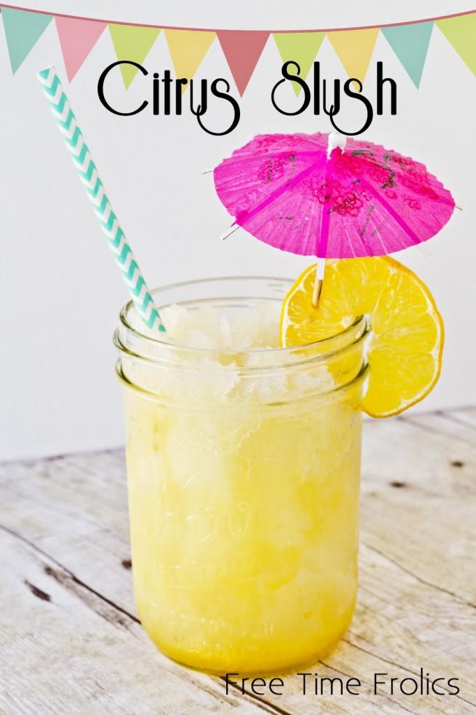 Orange Pineapple Slush via Free Time Frolics