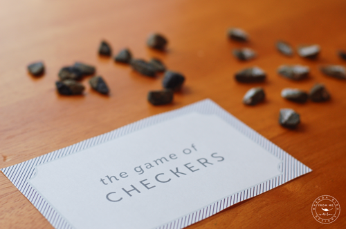 Printable Portable Checkers Game