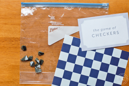 Portable printable checkers game 3
