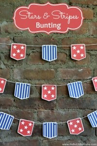 Stars and Stripes Bunting - Free Printable