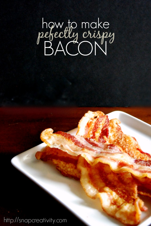 How to easily make perfectly crisp bacon with this recipe via @snapconf