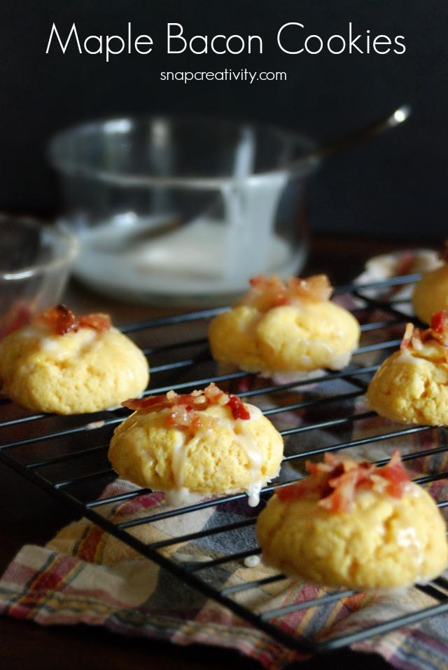 Maple Bacon Cookies via @SnapConf #recipe #dessert