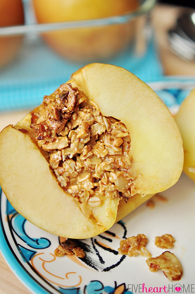 Baked Apples Stuffed with Granola. Yummy!