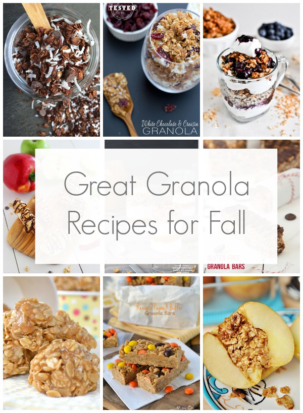 Great granola recipes for fall