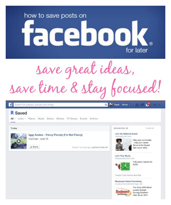 Learn how easy it is to mark and save Facebook posts for later via @SnapConf It's like pinning from Facebook and save so much time!
