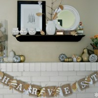 Learn how to dress up a simple burlap banner for a simple fall/harvest look