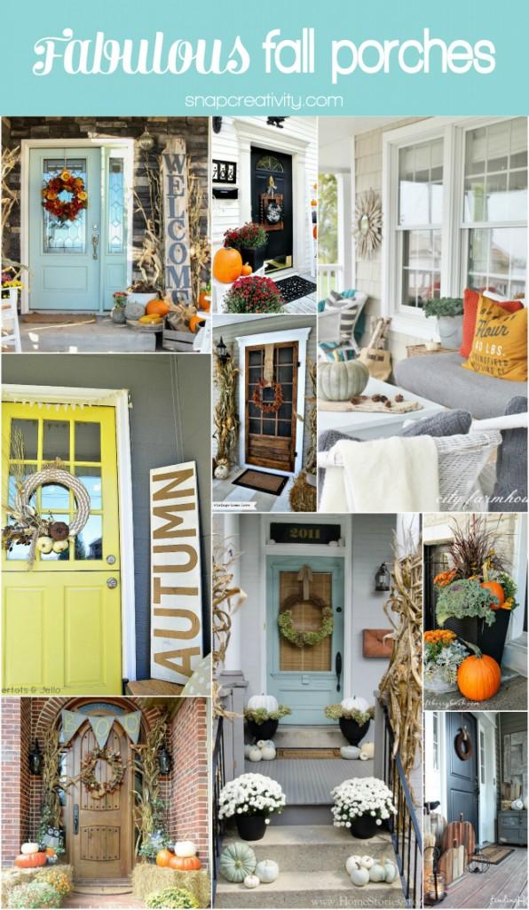 Fabulous Fall Porch Decor - so many beautiful ideas!