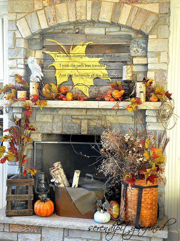 Fall pallet art for a fall mantel