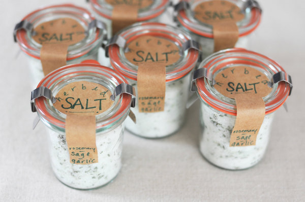 DIY gourmet herbed salt