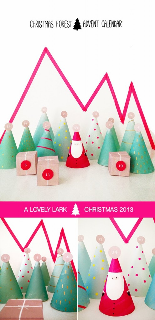 Christmas forest advent calendar