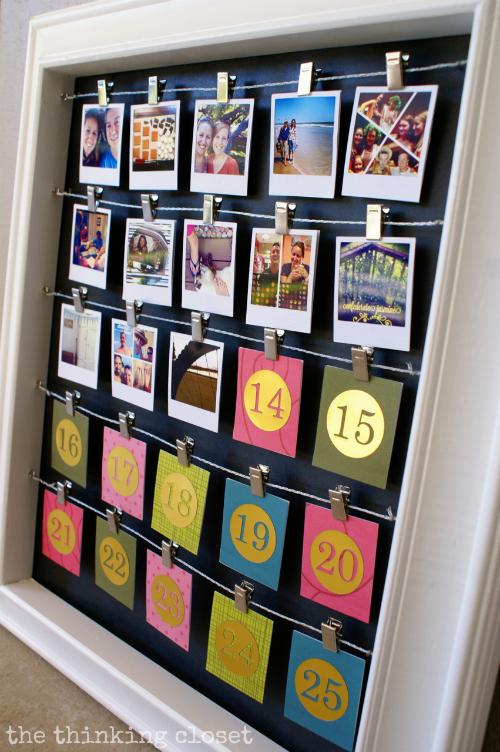Instagram photo advent calendar