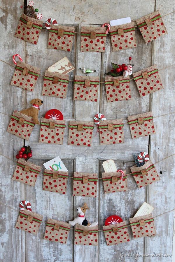 no sew burlap advent calendar