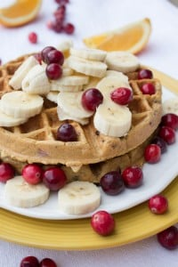 Cranberry Orange Waffles Recipe - No Diets Allowed