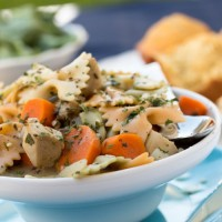 Creamy Leftover Turkey Noodle Soup - No Diets Allowed