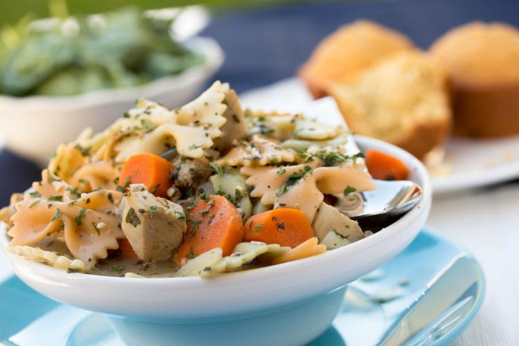 Creamy Leftover Turkey Noodle Soup - No Diets Allowed