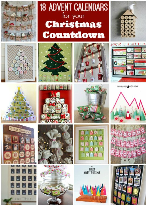 DIY Advent Calendars -- perfect for your Christmas countdown!