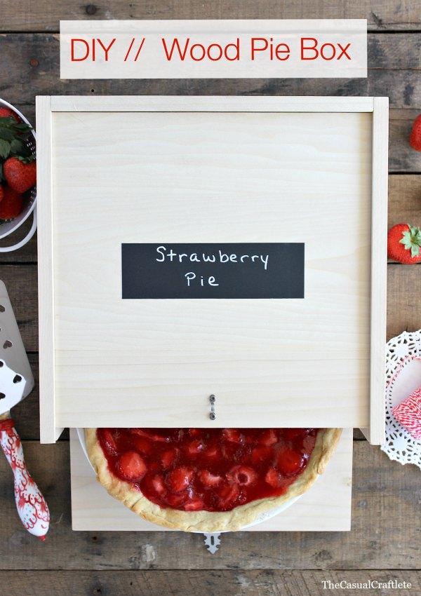 DIY Wood Pie Box via @casualcraftlete