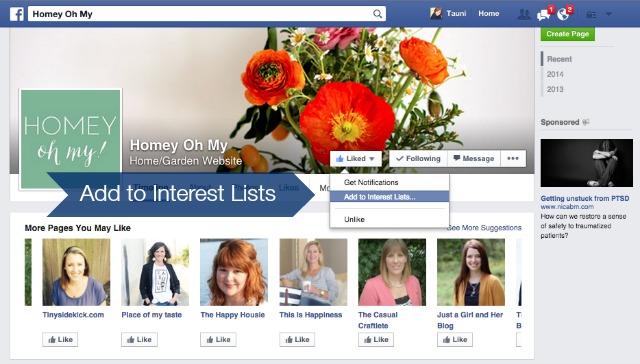 Facebook Interest List 10