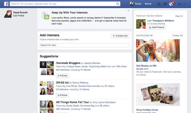 Facebook Interest List 4