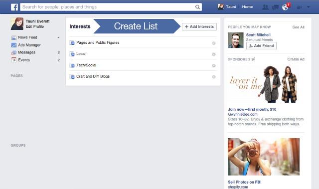 Facebook Interest Lists 3