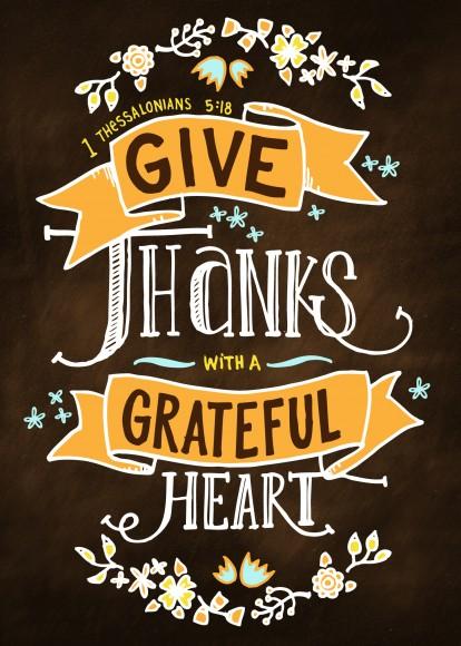 thankful printable
