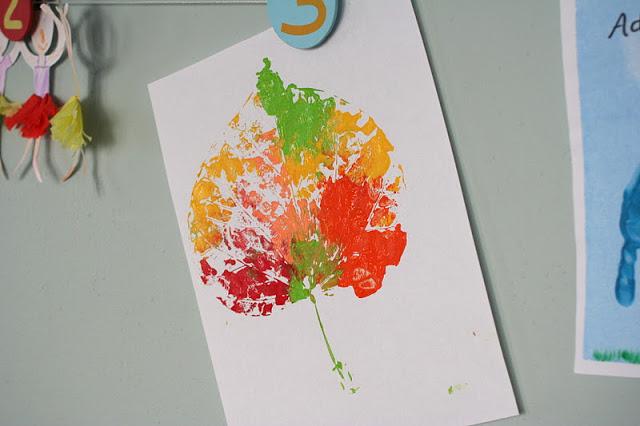 colorful leaf printing