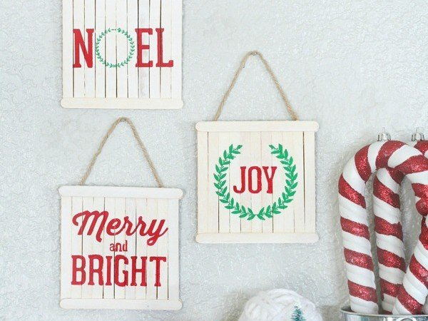 Mini Pallet Ornaments