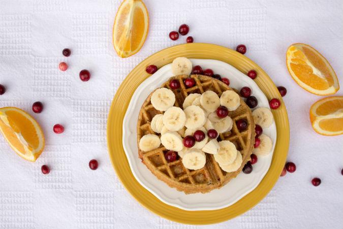 Orange Cranberry Waffles - No Diets Allowed