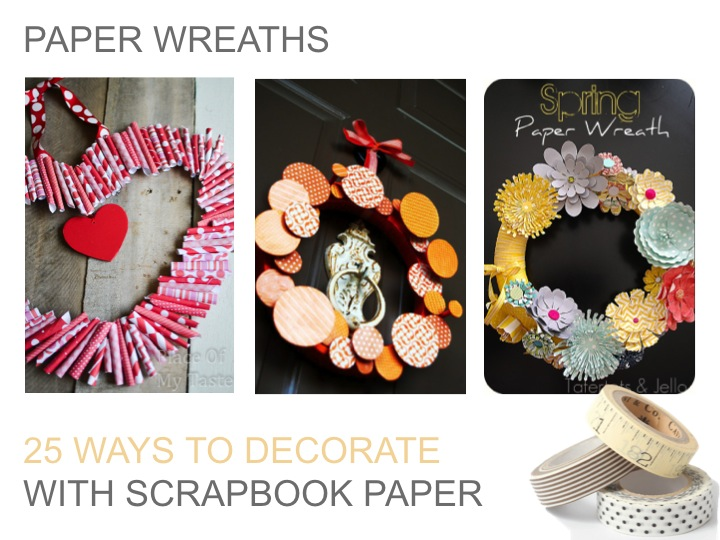 25 Ways To Decorate With Scrapbook Paper Tauni Co