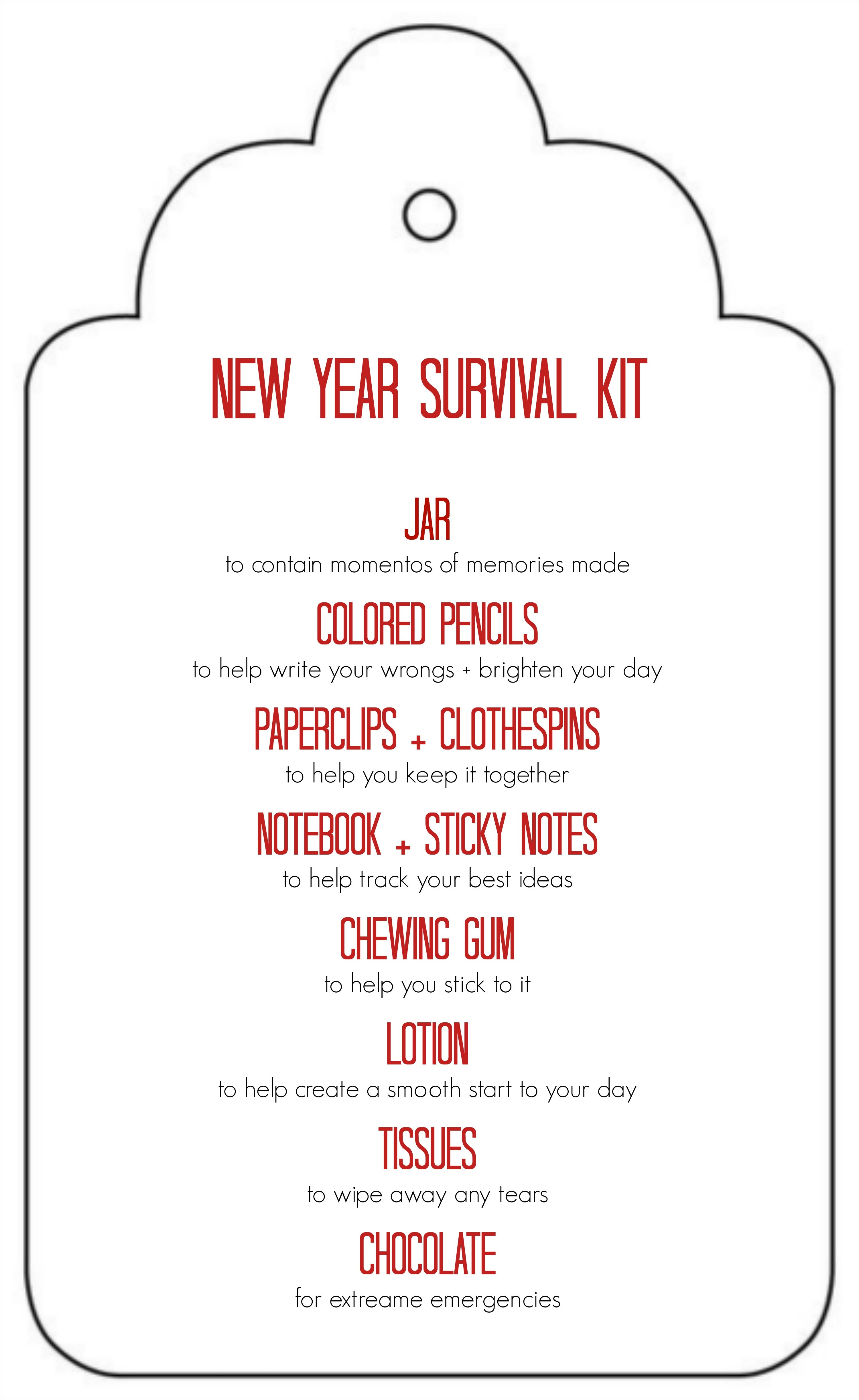 New Year Survival Kit Tauni Co