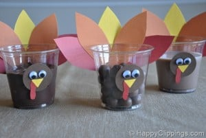 Thankgsiving kids crafts turkey cups