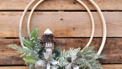 Woodland embroidery hoop wreath via @thelovelymrsp