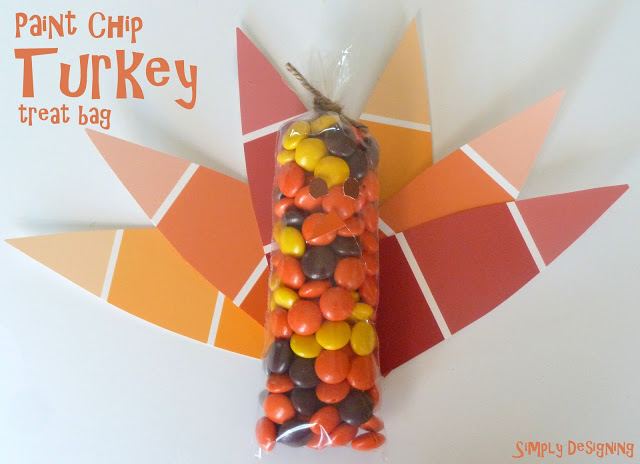 paint chip turkey treat bag