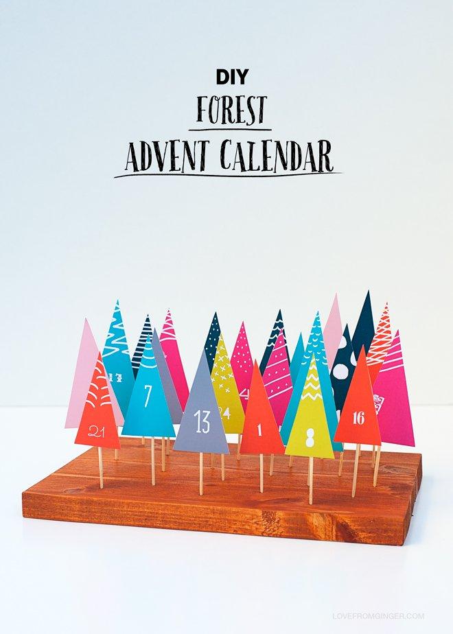 DIY printable forest advent calendar
