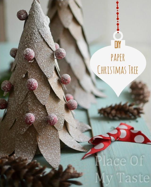 DIY paper Christmas tree craft