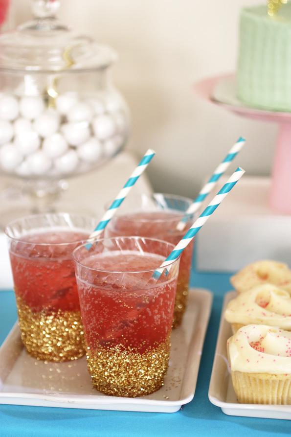 DIY glitter dipped cups