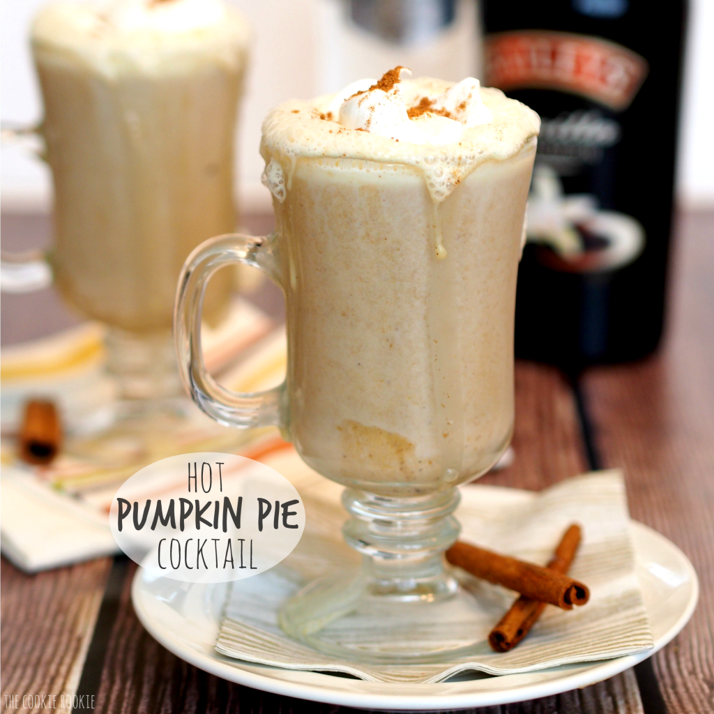 Holiday beverages: hot pumpkin pie cocktail