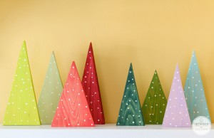 wood Christmas tree craft
