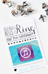 iTunes printable gift card holder