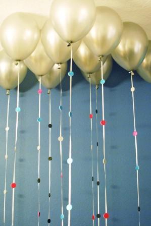 sparkly balloon garland