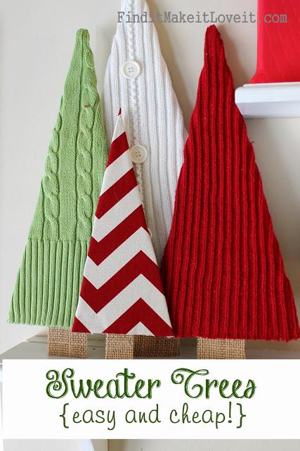 sweater Christmas tree craft